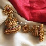 Bridal Matte Flower Design Big Jhumka