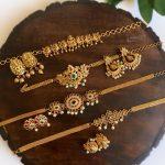 Close Neck Antique Choker Necklace Sets