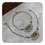 Daily Wear Silver Antique Oxidized Anklets