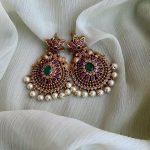 Floral Design Kemp And Pearl Earrings