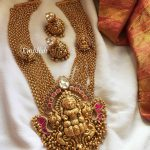 Grand Lakshmi Necklace With Matching Jhumka