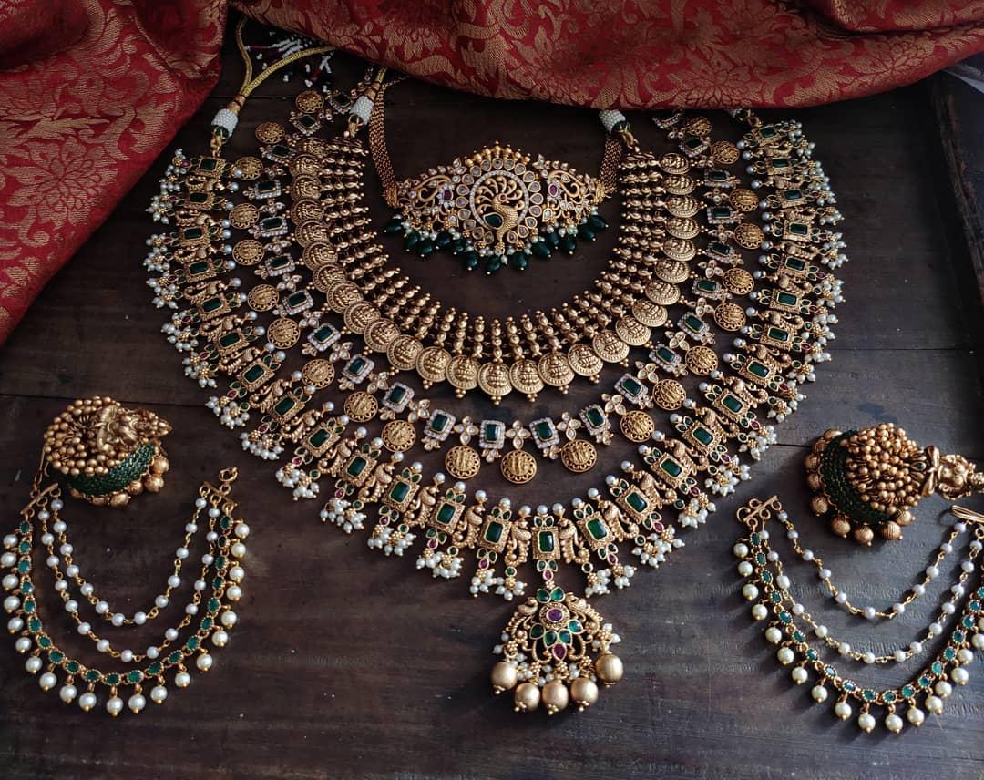 green-bridal-jewellery-set