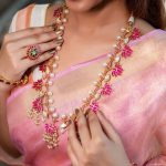 Handcrafted Kundan And Pearls Lotus Design Necklace