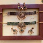 High Neck Choker Necklace Set