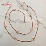 Rosegold Polish Pure Silver Anklets