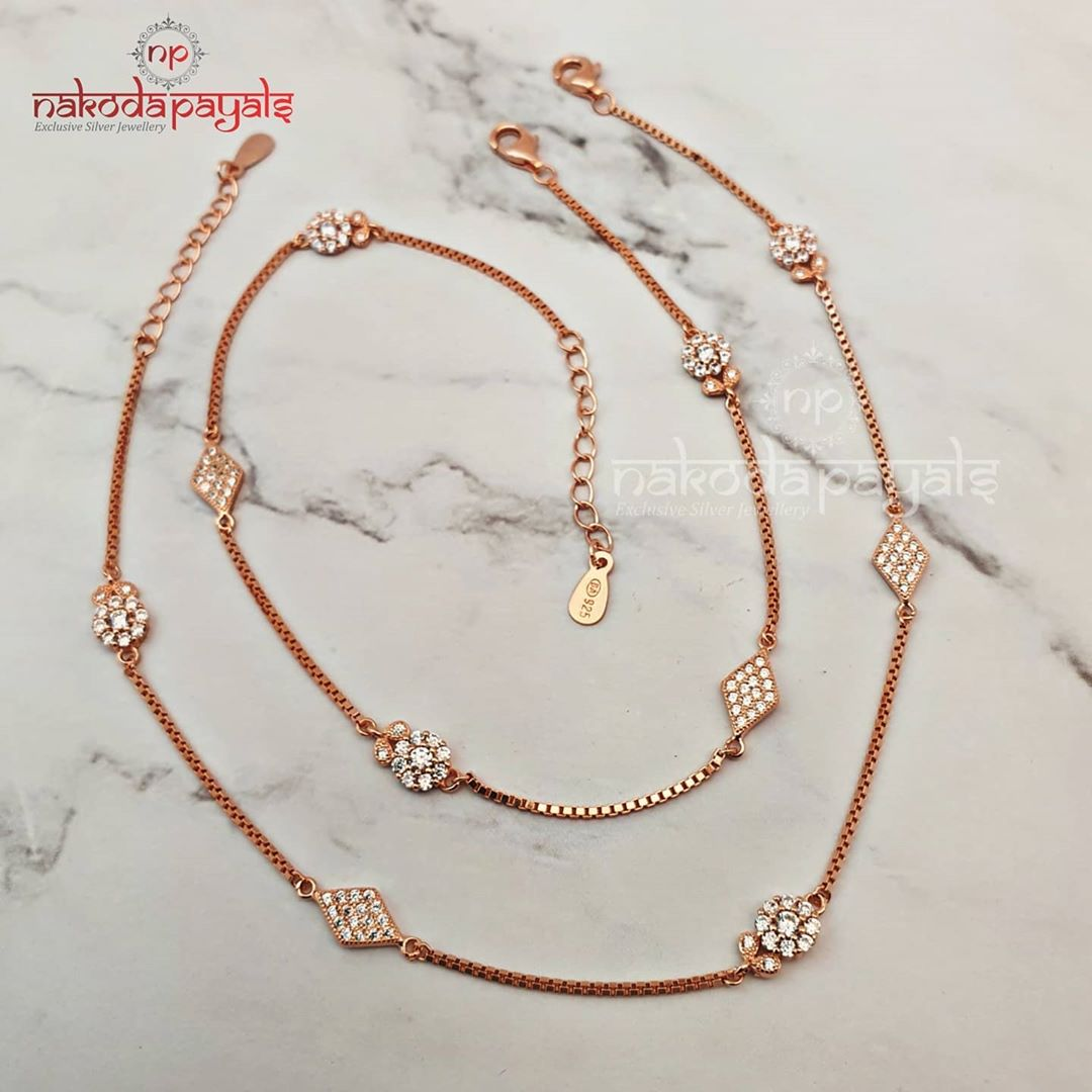 rosegold-polish-pure-silver-anklets