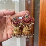 Silver Gold Plated Antique Jhumkas