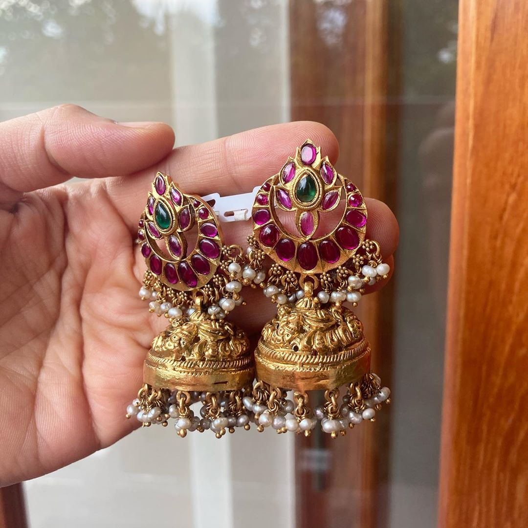 silver-gold-plated-antique-jhumkas