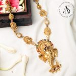 Silver Gold Plated Ganesha Pendant Necklace