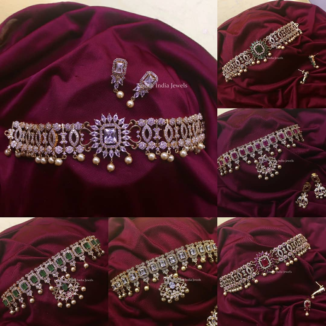 american-diamond-choker-necklace-collection