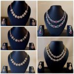 American Diamond Necklace Sets With Earrings