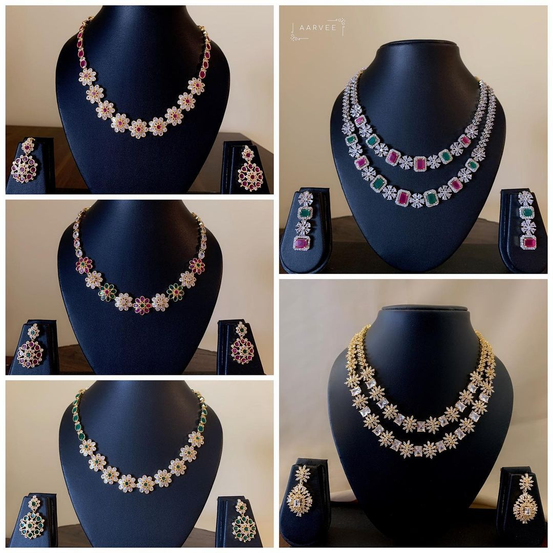american-diamond-necklace-sets-earrings