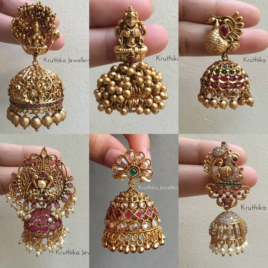 beautiful-antique-jhumkas-collection