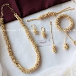 Cluster Pearl Jewellery Set