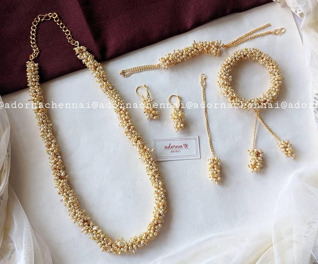 cluster-pearl-jewellery-set
