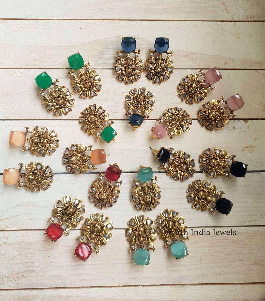 ganesha-antique-stud-earrings