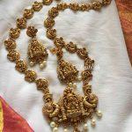 Gold Alike Lakshmi Peacock Necklace Set