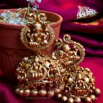 Huge Bridal Temple Jhumkas