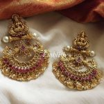 Lakshmi Coin Pearl Hangings Earrings