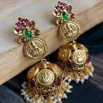 Traditional Lakshmi Coin Jhumkas