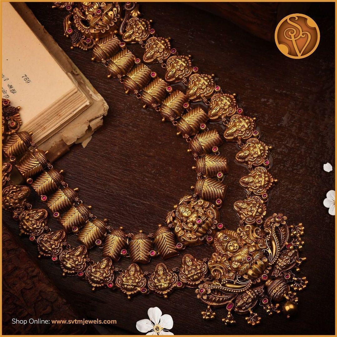antique-bridal-gold-necklace-set