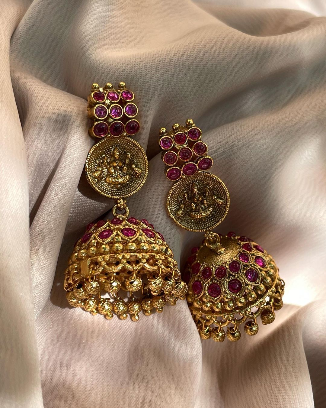 antique-ruby-lakshmi-temple-jhumkas