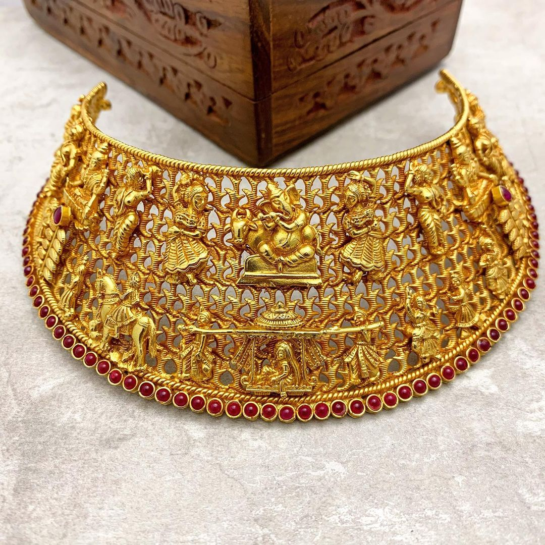 gold-plated-silver-broad-choker