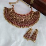 Heavy Bridal Choker Necklace Set