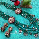 Kundan Beads Layered Necklace Set