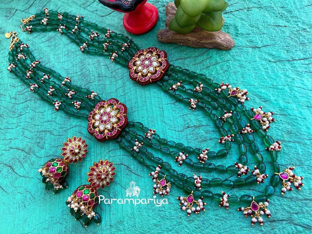 kundan-beads-layered-necklace-set