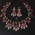 Lotus Silver Guttapusalu Necklace Set