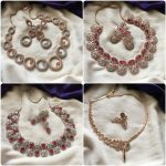 Rose Gold Ad Stones Necklace Collection