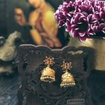 Ruby Antique Jhumkas
