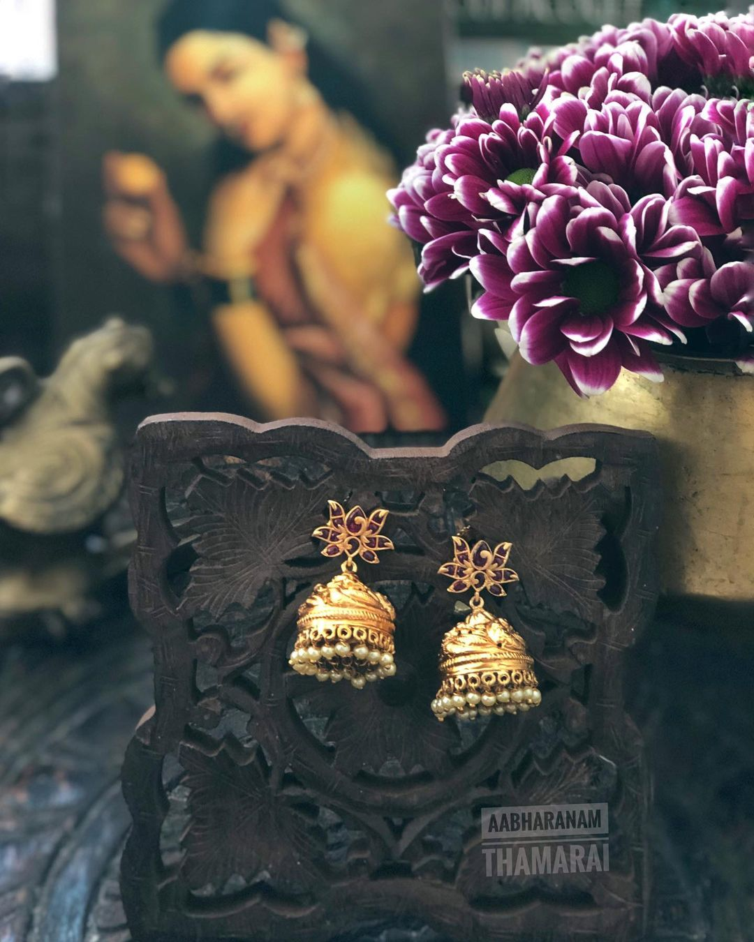 ruby-antique-jhumkas