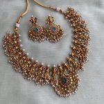 Simple Guttapusalu Necklace With Earrings