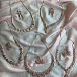 Simple Rosegold Necklace Sets