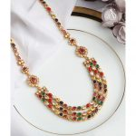 Three Layer Gold Plated Silver Necklace