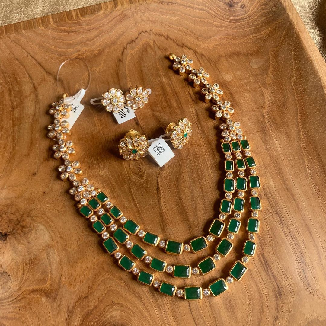 three-layer-silver-gold-polished-necklace-set