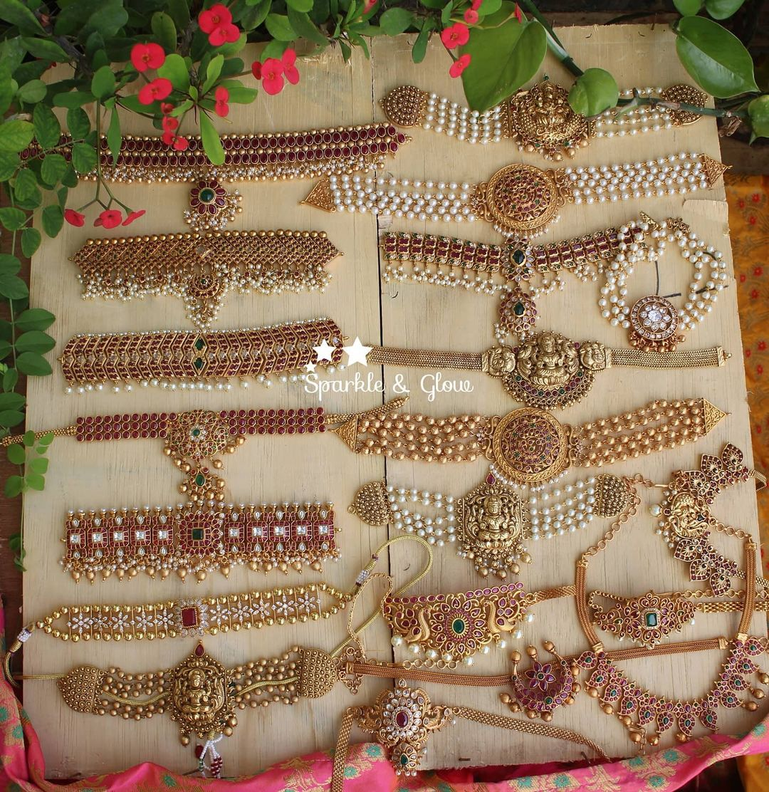 antique-choker-necklace-sets