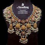 Gold Kundan Nakshi Guttapusalu Necklace by Amarsons Jewellery