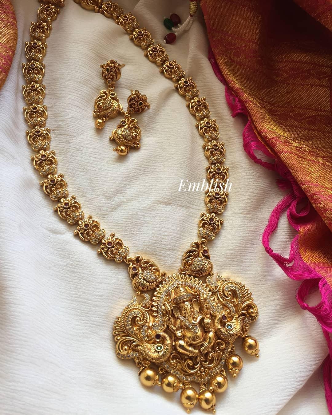 lord-ganesha-gold-alike-necklace-set