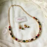 Navratna Kemp Necklace Set