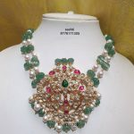 Pastel Beads Pearls Kundan Necklace