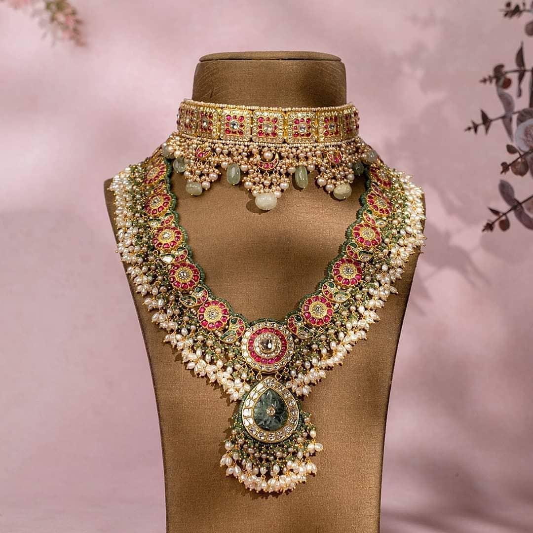 polki-choker-guttapusalu-necklace-set