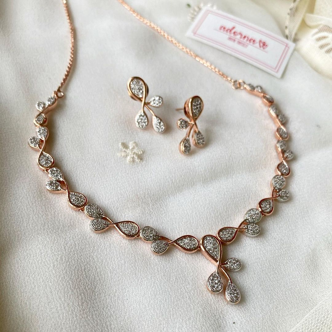rosegold-loop-necklace-set