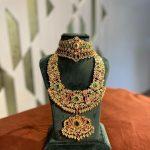 Ruby Emerald Uncut Diamond Necklace