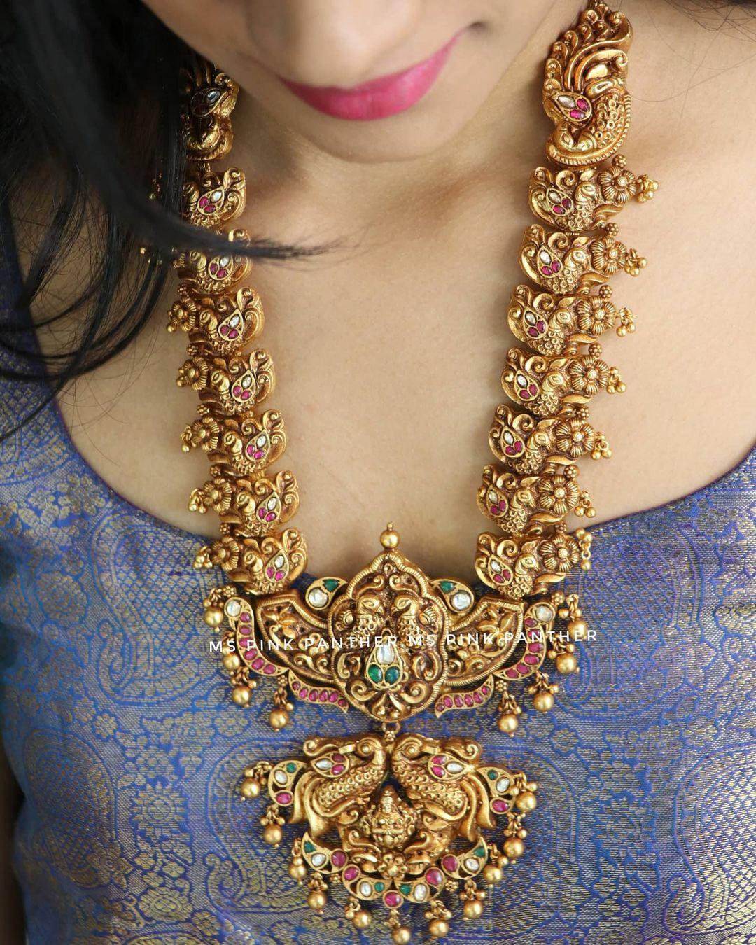silver-peacock-necklace-design
