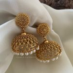 Stunning Jhumkas With Pearl Drops From The House Of Jhumkas!