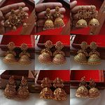 Temple Design Jhumkas By The South India Jewels!!