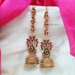 Traditional Bridal Jhumka With Mattal By The South India Jewels!!